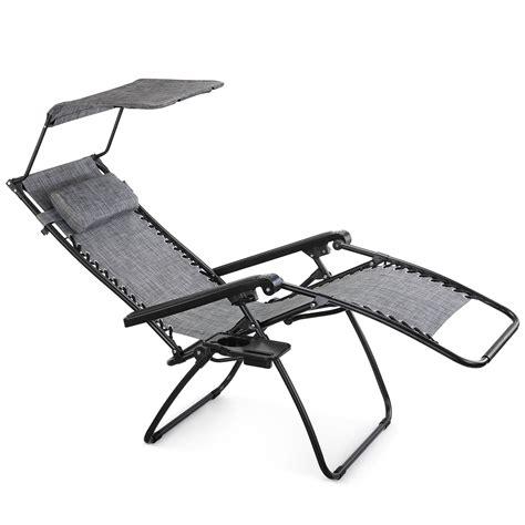 c chair with canopy vonhaus textoline zero gravity chair canopy sun lounger