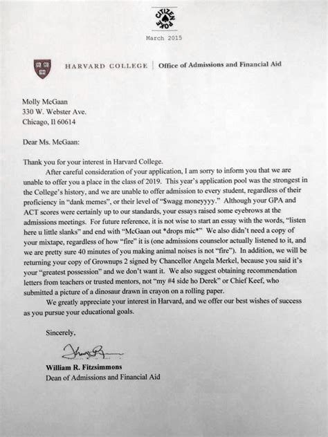 Harvard Decline Letter Mixtape forward or delete this week s viral photos
