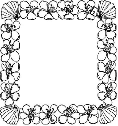 coloring pages of flower borders flower border pages colouring pages clipart best