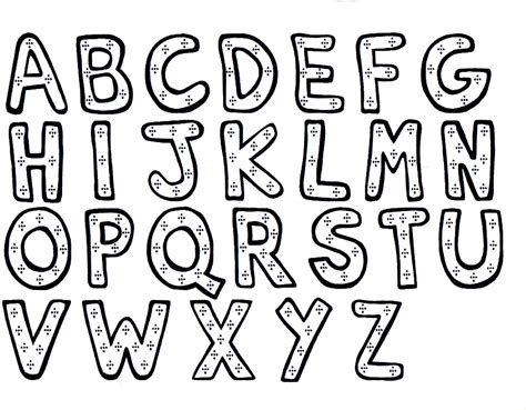 free coloring pages of alphabet for kindergarten