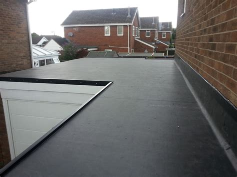 new epdm flat roof installed firestone epdm rubber roofing in leicester