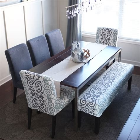 Dining Room Chairs And Benches by Easy Bench Slipcover Bench Decking And Dining Room Table