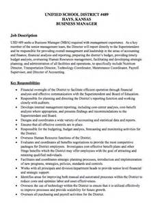 Financial Manager Description by Usd 489 Finance Manager Description