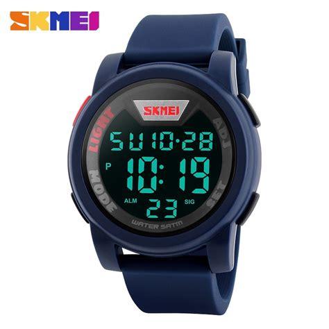 Skmei Trendy Led Dg1218 skmei jam tangan trendy digital pria dg1218 blue