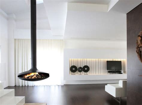 hanging fireplaces modern 15 hanging and freestanding fireplaces to keep you warm