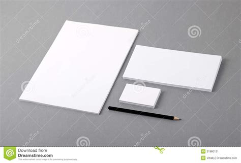 business card letterhead envelope template blank basic stationery letterhead flat business card envelope stock image image 31980131