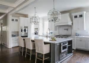 gray kitchen island white and gray kitchen designed by jackbilt homes home