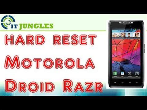 reset voicemail password motorola razr how to hard reset motorola droid razr youtube