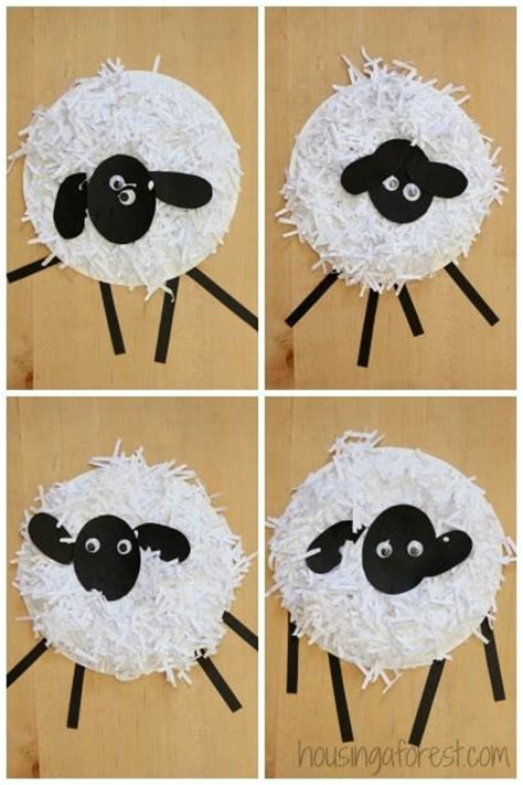 paper plate sheep craft paper plate crafts how to make a paper plate sheep