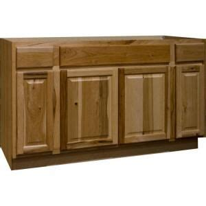 kitchen base cabinets home depot 60 in hickory natural sink base cabinet ksb60 nhk at the