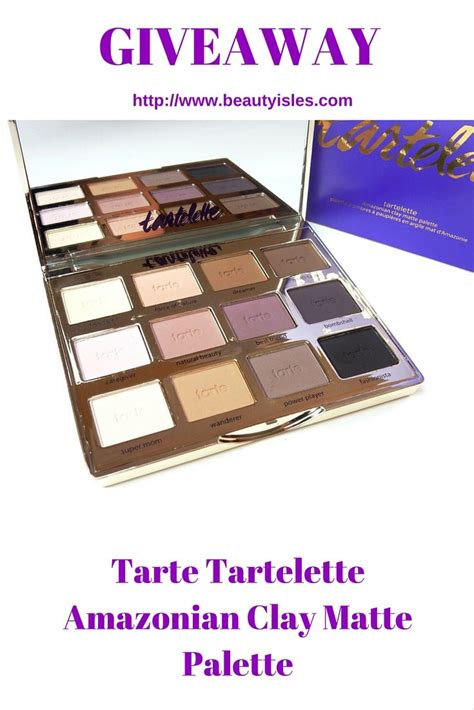 Clay Giveaways - tartelette amazonian clay matte eyeshadow palette giveaway beauty isles