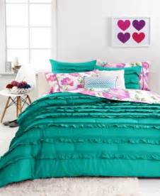 closeout teen vogue ella teal ruffle comforter sets bedding collections bed amp bath macy s