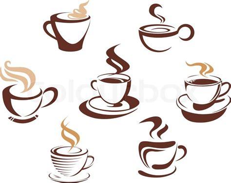 coffee  tea cups stock vector colourbox