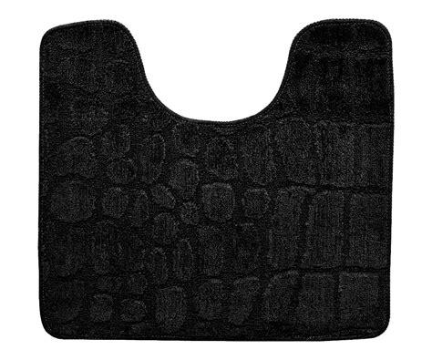 tapis toilettes tapis contour wc toilette lavabo tendance croco chic naturel zen noir 3209