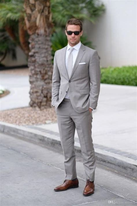 light grey slim fit suit light gray wedding mens suits slim fit bridegroom tuxedos