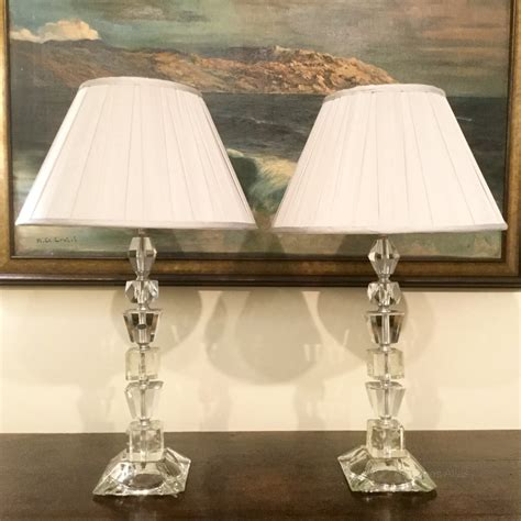 pair of crystal table ls antiques atlas pair of cut crystal table ls