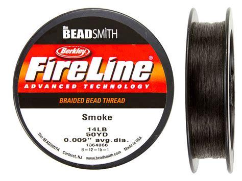 fireline fishing line for beading beadsmith berkley fireline smoke 14lb 14 50yd 50 yd