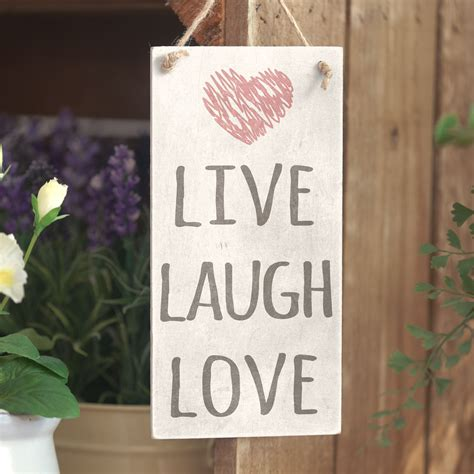 live home themes live laugh love cute home decor sign handmade rustic