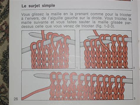Comment Faire Un Surjet Simple tricoter 1 surjet simple