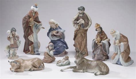 lladro 1424 king gaspar 10 pcs retired lladro nativity set tallest 14 quot h