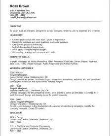 Graphic Artist Resume Exles by Creative Arts And Graphic Design Resume Exles
