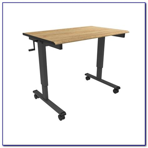 Crank Adjustable Height Standing Desk Desk Home Design Adjustable Height Desk Crank