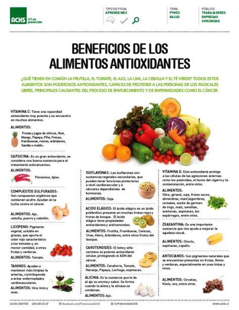 los beneficios de los alimentos antioxidantes  saludable