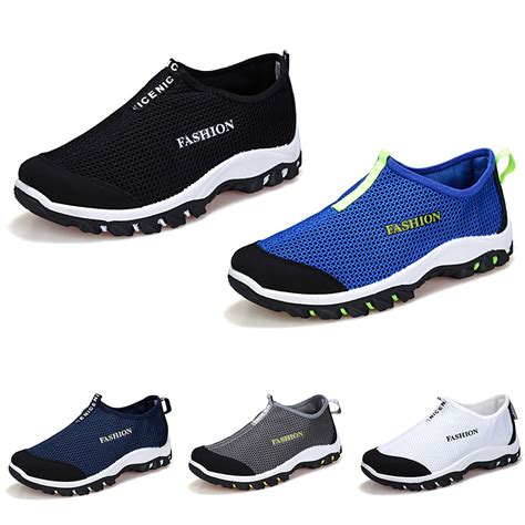 casual sneakers mens new summer fashion mesh casual sneakers slip on