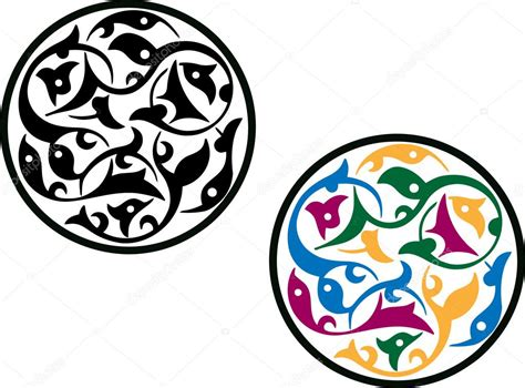 islamic round pattern vector colorful round islamic patterns stock vector 169 morrmota