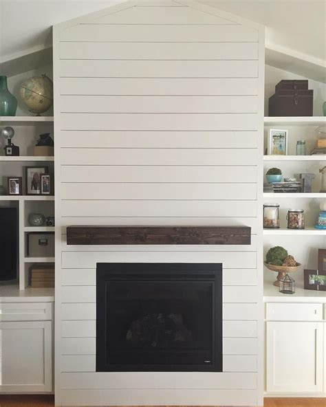 shiplap fireplace our fireplace is finally done bring on the crisp fall
