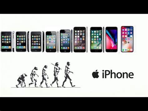 iphones utveckling fr 229 n iphone 1 till iphone x