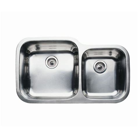 Shop Blanco Supreme 20 875 In X 35 437 In Satin Double Blanco Kitchen Sinks Stainless Steel