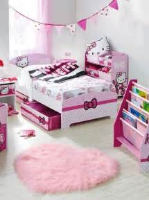 Cute room ideas for small rooms with pink hello kitty bed also pink