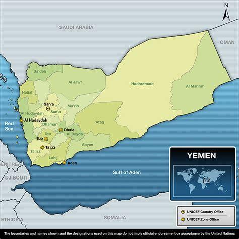 africa map yemen unicef humanitarian report 2010 yemen