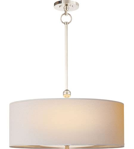 Visual Comfort Island Light Visual Comfort O Brien Reed Pendant In Polished Nickel With Paper Shade Tob5011pn Np