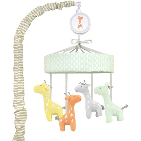 Walmart Crib Mobile by Bacati Elephants Musical Mobile With Hanging Toys Pink