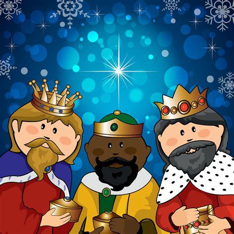 imagenes de reyes magos caricatura banco de im 193 genes ilustraci 243 n colorida de los tres reyes