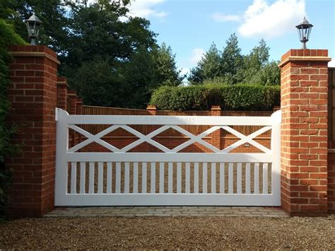 white wooden gate gallery of spindle wooden driveway gates bespoke