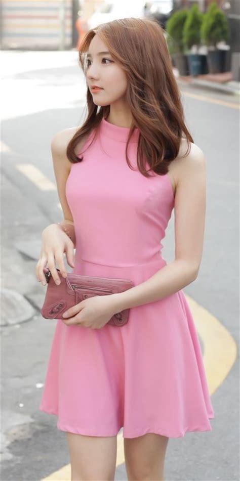 Korea Pink Stelan Sleveeless Pink 49 best korean dress fashion images on dress