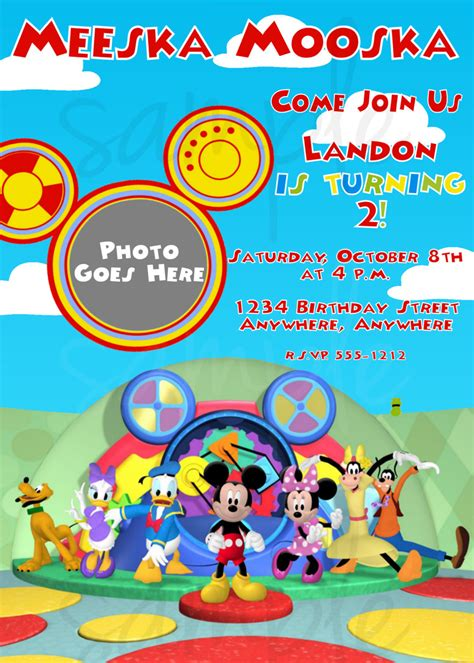 mickey mouse clubhouse invitation template mickey mouse clubhouse birthday invitation