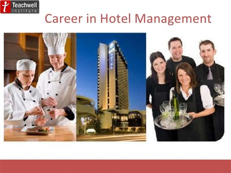 Career Opportunities Mba Hospitality Management by Career In Hotel Management