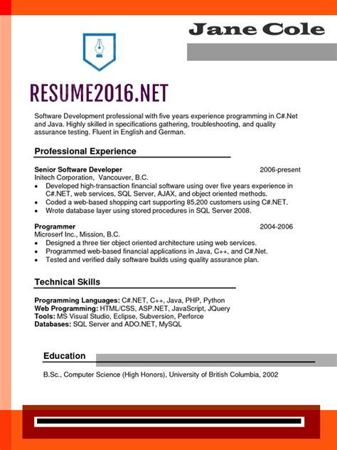 chronological resume format 2015 chronological resume format 2016 what s new