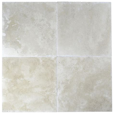 super light brushed chiseled travertine tiles 18x18