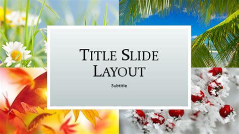 Four Seasons Nature Presentation Widescreen Microsoft Powerpoint Templates Widescreen