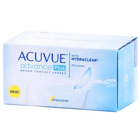 acuvue advance plus 24 pack contact lenses by johnson