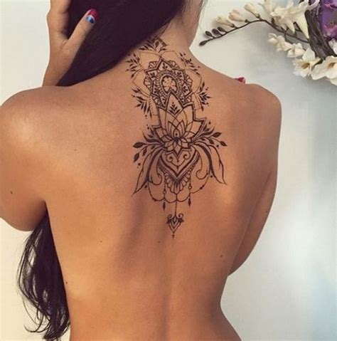 lotus tattoo back of neck 55 attractive back of neck tattoo designs for creative