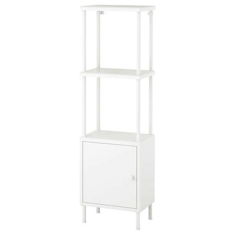 dynan shelving unit with cabinet white 40x27x134 cm ikea