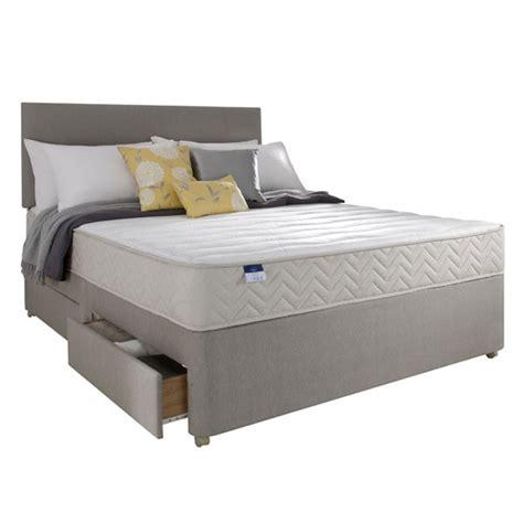 divan beds silentnight seoul 4ft 6 double divan bed bedstar ltd