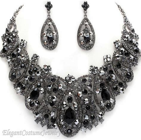 Black Jewelry by Costume Jewelry Necklace Sets The Bling Thing