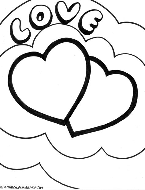 double heart coloring page double heart images clipart best